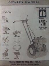 Sears David Bradley Walk Behind Handiman Tractor Owner Amp Parts Manual 91760101