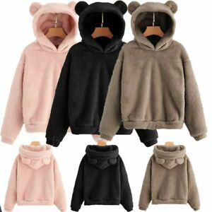 Women Winter Hoodie Sweater Hooded Long Jacket Coat Sweatshirt Tops Outwear