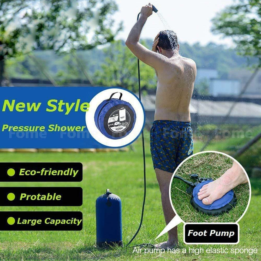 Outdoor Inflatable Shower high Pressure Shower Water Bag Portable Camp Shower