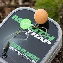 FTD- KORDA Mouth Trap 20m Coated Chod Filament for Chod, Stiff & Combi Carp Rigs