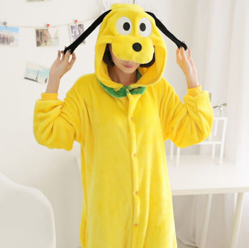 Erwachsene Pyjama Unisex Tier Onesie Kostüm Cosplay Stitch Einhorn Pony Kigurumi