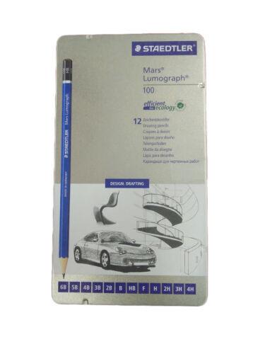 Staedtler Lumograph 100 Lead Pencil Tins G6 G12 G12S G19 G24 all grades 8B-6H