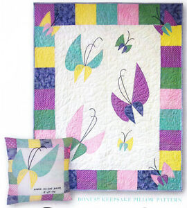 Baby-039-s-Butterflies-applique-amp-pieced-quilt-PATTERN-In-the-Doghouse