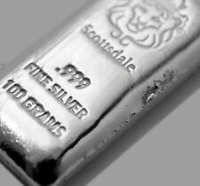 100~GRAM ~PURE .999 SILVER~ POURDED LOAF BAR ~3.21~OUNCES SILVER BULLION~ $86.88