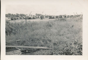 1945-WWII-GI-039-s-Guam-Photo-4-lots-of-cranes