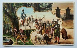 1892 Arbuckle Coffee Trade Card No 12 Florida FL Seminoles Spaniards Advertising