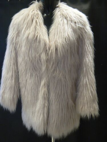 Pale tag Coat 12 Fuax Jacket nuovi Uk Fur taglia River Island Shaggy Pink 8 R4xq1