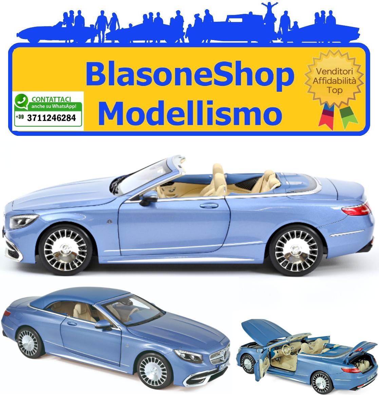MERCEDES MAYBACH S650 CABRIOLET 2018 BLUE METALLIC 1:18 Norev Auto Stradali