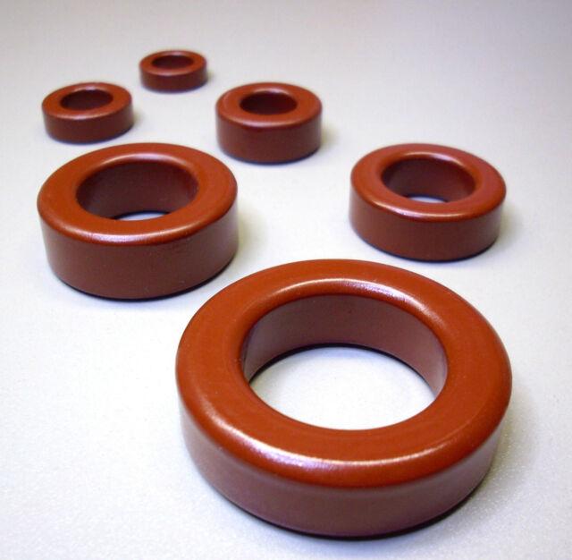 1 Stück Eisenpulver Ringkern Typ T106-2 rot / Frequenzbereich 1 - 30 MHz