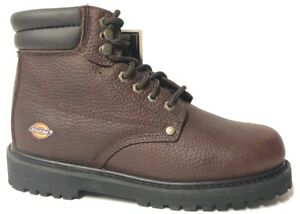 aed49ac74db Dickies Footwear Men's Brown Work Boots Leather WD7215 WIDE SIZES 7 ...