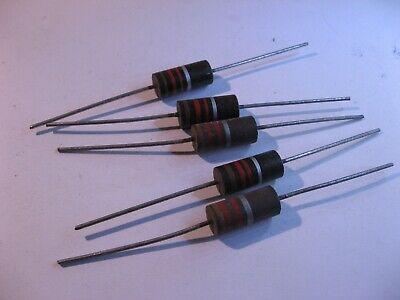 10/% CC/_2/_2S Bag of 500 1//2W Carbon Composition 2.2 Ohm Resistors