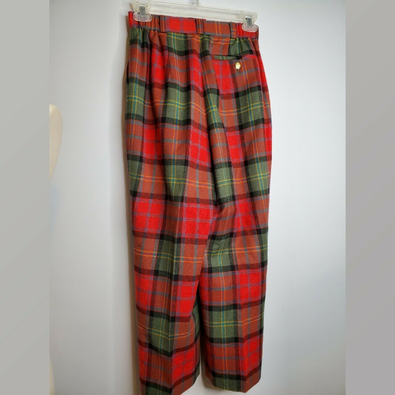 Vintage Joe Phillips Red And Green  Plaid Wool Pa… - image 2