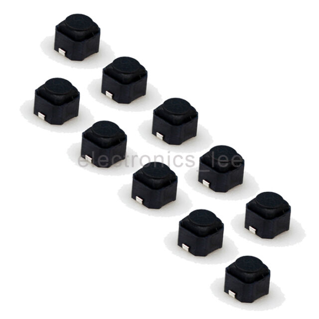 10pcs 6*6*5mm SMD Tactile Push Button Tact Switch Silent Switch for PCB mounting