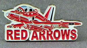 Details about Metal Enamel Pin Badge Brooch RAF Red Arrows Words Red Arrow  Display Team