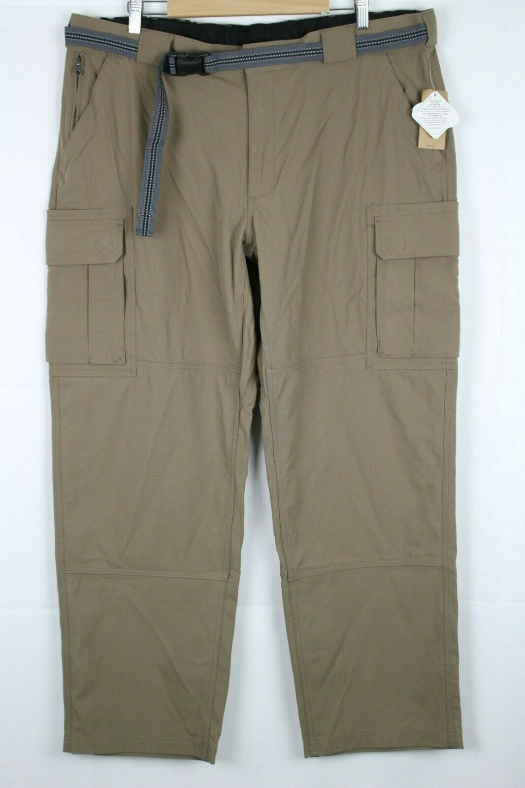 New Duluth Men's Dry On The Fly Cargo Pants Size 2XL x 32 Bark Brown