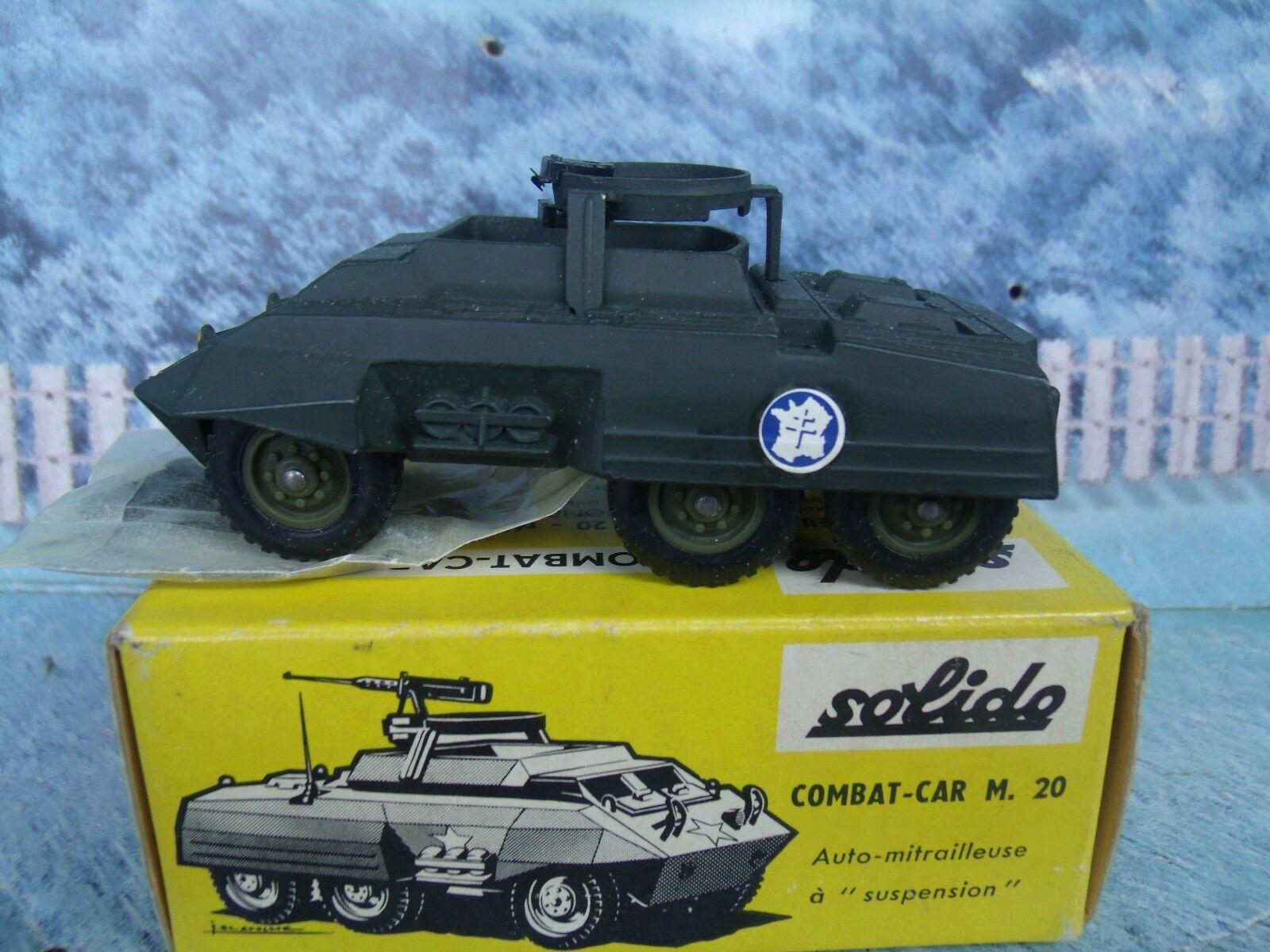 1 50 Solido (Francia) de combate militar coche M. 20   200