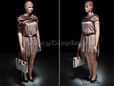 Plus Size Female Fiberglass Mannequin with Molded Hair Dress form #MZ-AVIS1