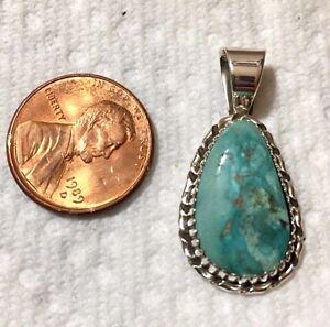 Lovely Arizona Kingman Natural Turquoise Pendant TByrd artisan Navajo Avin Joe