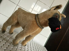 Vintage Knickerbocker Straw-Stuffed Mohair Boxer Dog