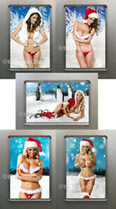 Christmas Babes.Details About New Christmas Babes Quality Fridge Magnets Xmas Sexy Santa Great Choice U Pick