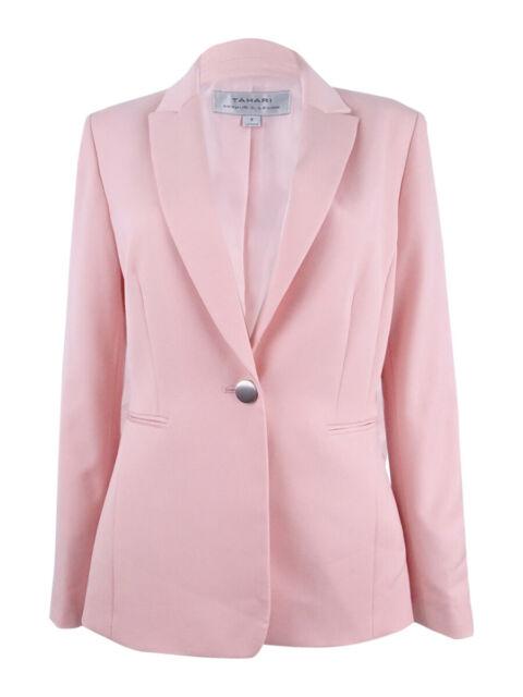 ea21fa58c5fd Tahari Womens 1364 Pink Blazer Wear to Work Jacket 6 B B for sale online |  eBay
