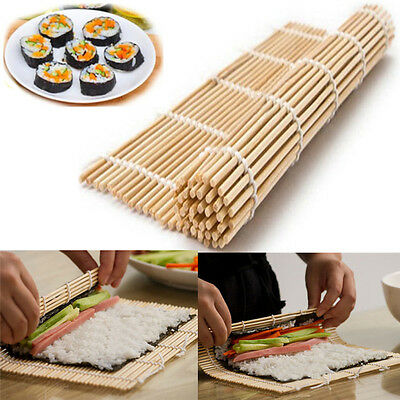 Sushi Rolling Roller Mat  DIY Maker Home Kitchen Tools Gadgets Bamboo Material