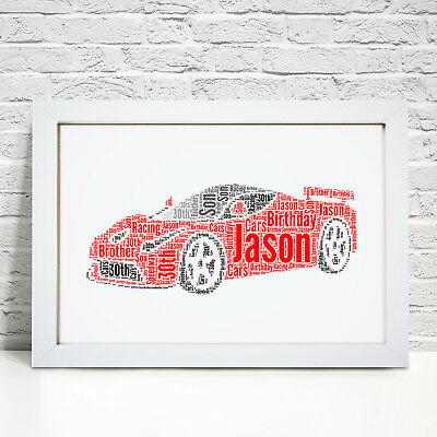 Personalised Sports Car Print Gifts Fathers Day Birthday Best Man Dad Son Gift Ebay
