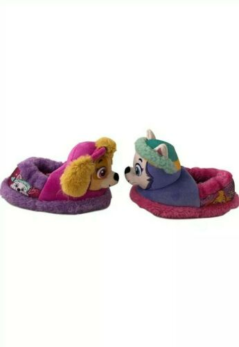 Details about  /Paw Patrol Skye Everest 3D Plush Head Toddler Girl/'s Slippers Size 11-12 NWT