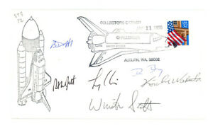 1996 SPACE SHUTTLE ENDEAVOR STS-72 crew signed cachet cover FDC