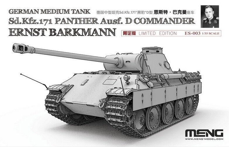 Meng 1 35 German SdKfz.171 Panther Ausf.D Commander Ernst Barkmann