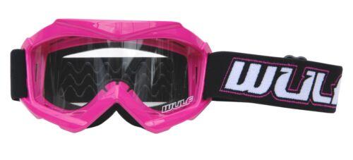 Wulfsport Kids Childrens Youth Motocross MotoX MX Enduro Quad Goggles Pink