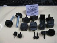 1966-67 Gto, Lemans, Tempest Rubber Bumper Kit (non-orignal Hood Adjusters)