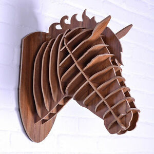 Wood Wall Hanging wooden horse head wall mount sculpture wood wall hanging home