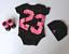NIKE Michael Jordan infant set Hat Socks Body Vest 6 months Black Pink 3 piece