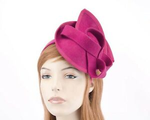 Image is loading Fuchsia-felt-winter-autumn-fascinator-by-Max-Alexander- 3bd0d4391ea