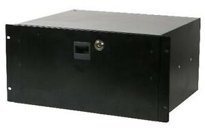 555 15453 dj 5u equipment rack mount steel locking storage drawer case 19 ebay. Black Bedroom Furniture Sets. Home Design Ideas
