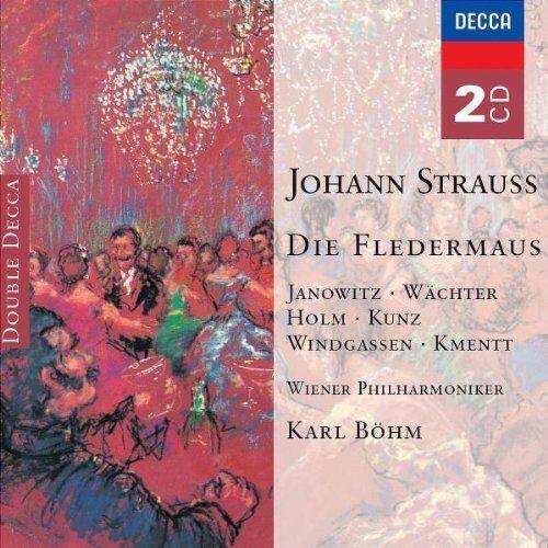 J Strauss: Die Fledermaus / Die Fledermaus Janowitz/Wächter/Holm/ Kunz Box 2 CD
