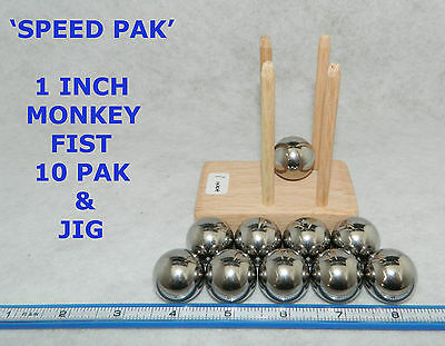 """Ten 1-1//4/"""" Inch Large Paracord Monkey Fist Steel Bearing Balls Tactical Cores"""