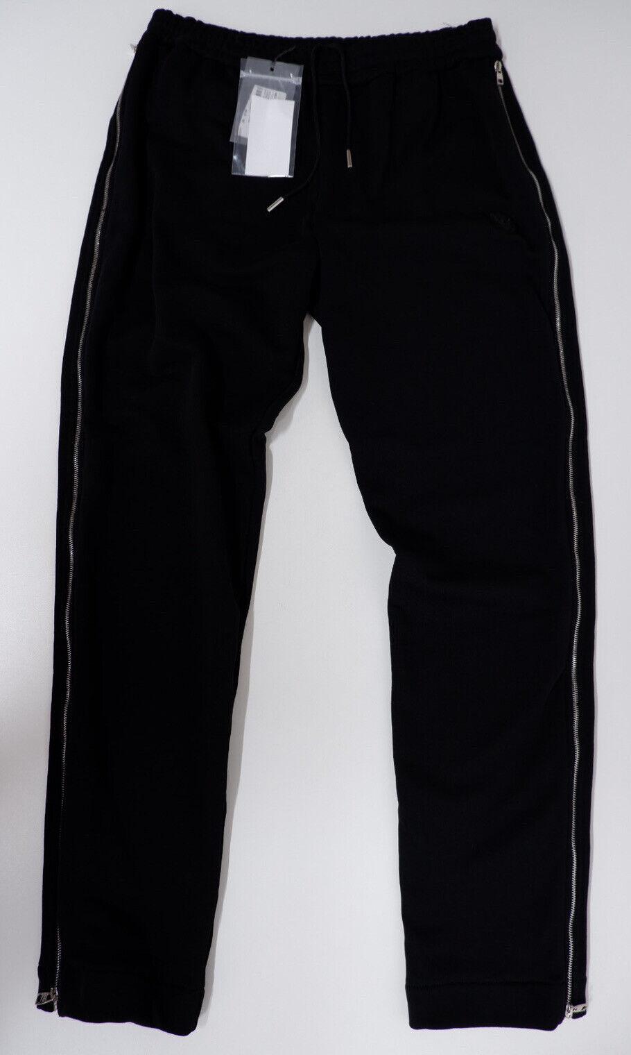 Alexander McQueen Mens Organic Cotton Jogging Bottoms, Pants, Medium, Black, NEW