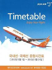 Airline Timetable - Jeju Air - 01/05/12 (Korea) - B737 cover - Style 1 - S