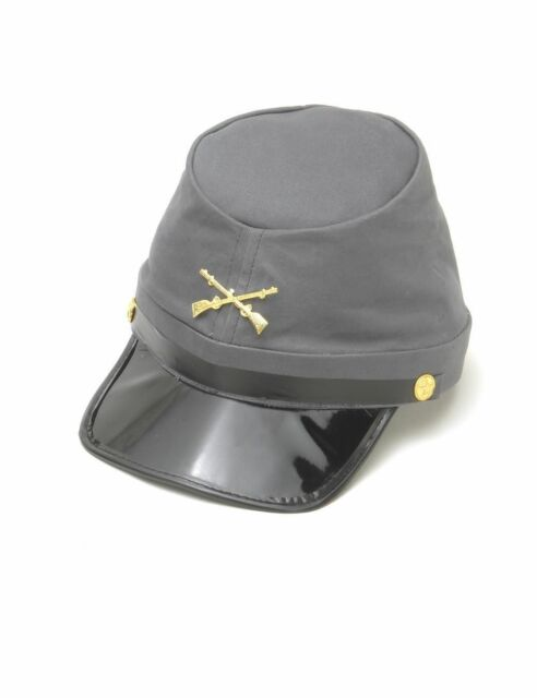 Confederate Army Soldier Kepi Hat Civil War Cap Adult Costume Accessory
