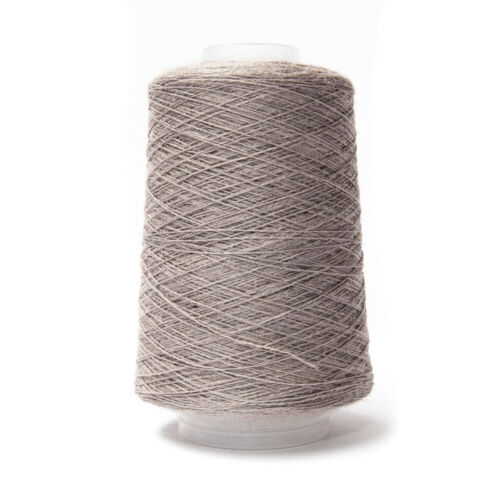 200g 2//18nm 83/% Lana 17/% de nylon hilo marrón topo