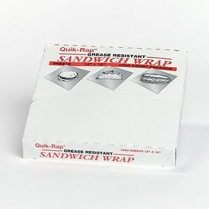 Food Service Wax Paper Sheets