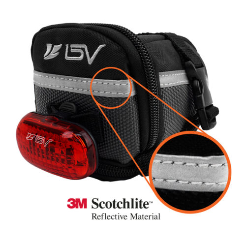 Bicycle Rear Storage Medium Tail Pouch NEW BV-SB1-M BV Bike Seat Saddle Bag