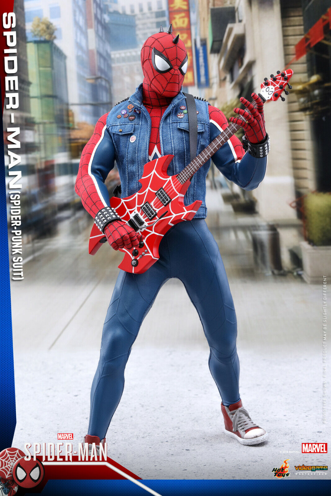 Hot Toys Spiderman (Spider-Punk Suit) Actionfigur 1 6 Maßstab VGM32 Im Lager
