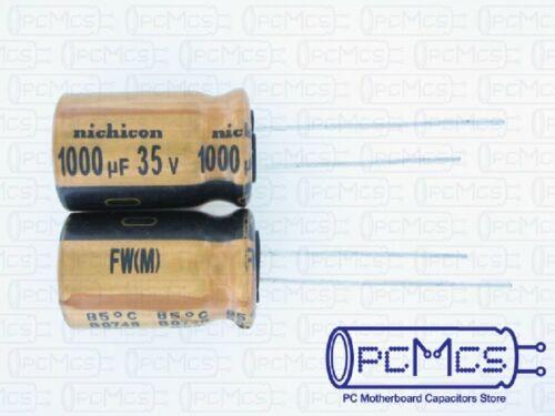 2 piezas Nichicon 35V 1000UF FW Para Equipos De Audio Hi-fi Condensador hecho en Japón