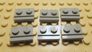 Plate 32028 LEGO Parts~ 6 Modified 1 x 2 with Door Rail 32028 RED