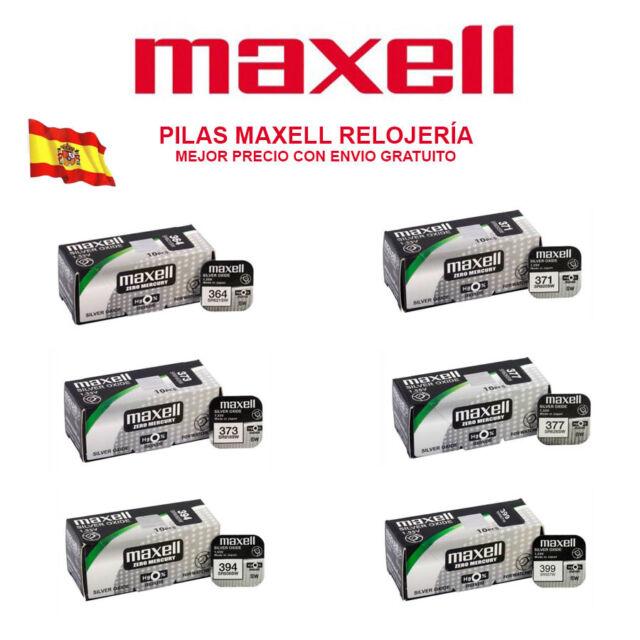 PILAS MAXELL 321 364 371 373 379 394 399 395 BATERÍAS OXIDO DE PLATA 1,55 V