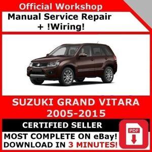 Factory Workshop Service Repair Manual Suzuki Grand Vitara 2005 2015 Ebay