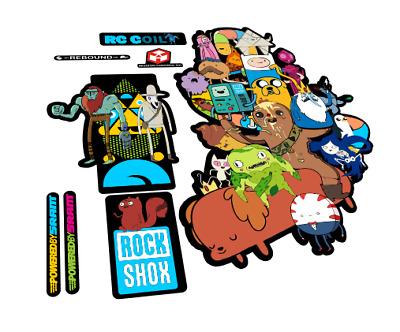 New custom RockShox Colt RC stickers Adventure time style mtb